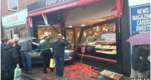 Norfolk taxi crashes through Bean cafe window
