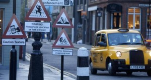 Taxi drivers necessitate modern warnings to alert London drivers: Signs of things to come?